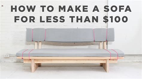 diy sofa how to make a no sew sofa for 100