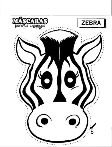 printable zebra mask zebra mask free coloring pages