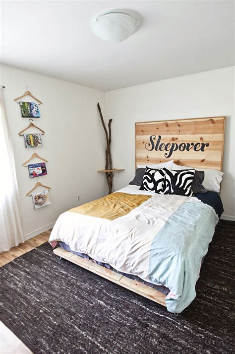 diy headboard and bed frame diy simple bed frame a beautiful mess
