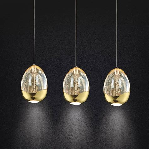 pendant light led terrene 3 light led bar ceiling pendant light in gold from