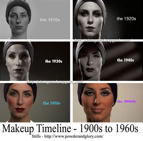 the evolution of women s hairstyles since 1900 makeup timeline 1900 to 1960s vintage makeup guide