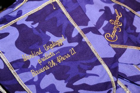 crown royal bag colors teamed up with crown royal for bowl xlvii