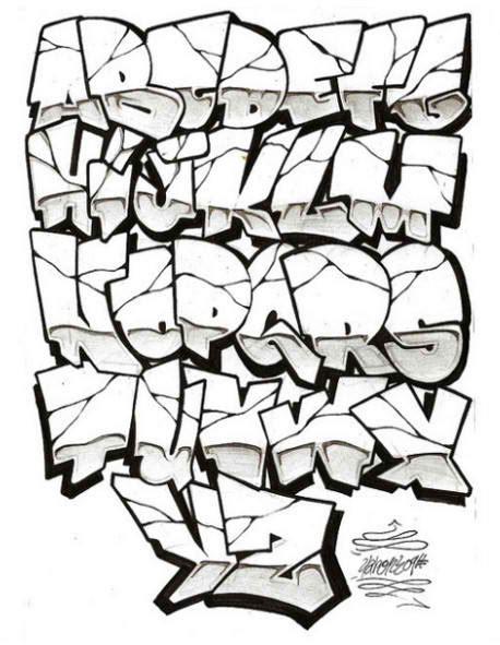 graffiti alphabet letters
