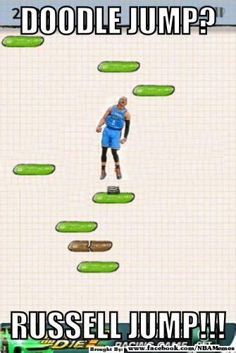 doodle jump kevin durant westbrook doodle jump lol the nba