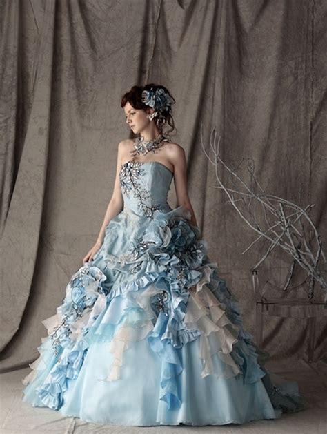 blue wedding dresses gothic bridal alternative bridal