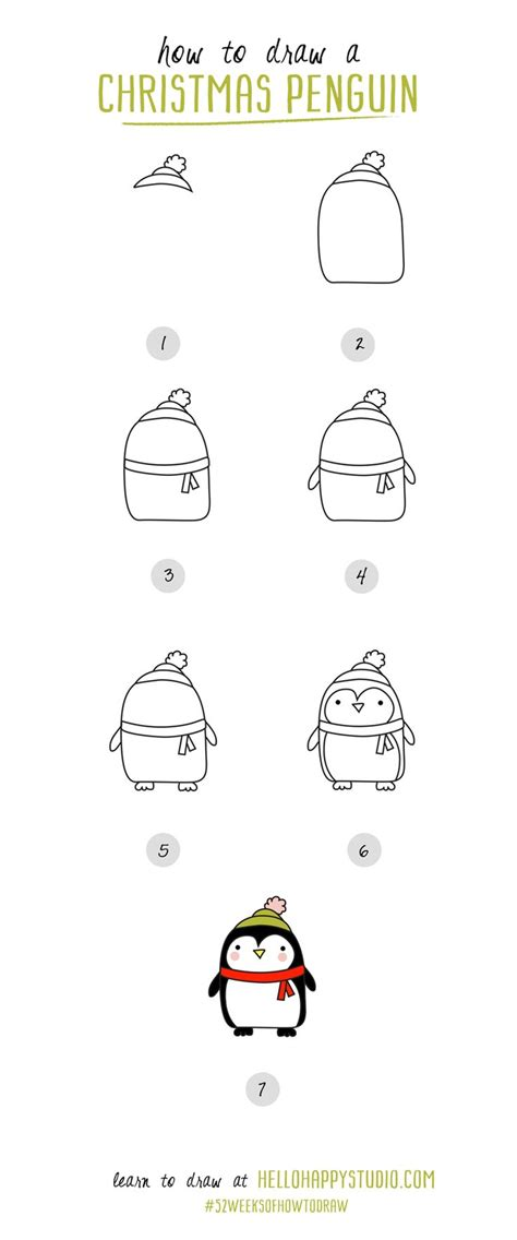 christmas drawing step by step and gift to gift cartoon best 25 easy drawings ideas on drawing doodles and