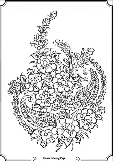 Complex Flower Coloring Pages Coloring Home Complex Coloring Pages