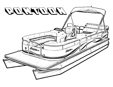 pontoon boats printable coloring pages for kids 2014
