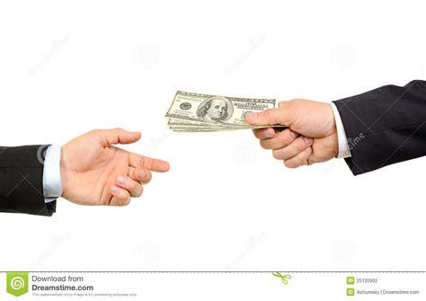 kredit debt relief handing money to another stock photography