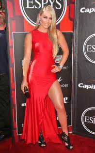 Beautytiptoday com lindsey vonn wows tonight at espy awards in red