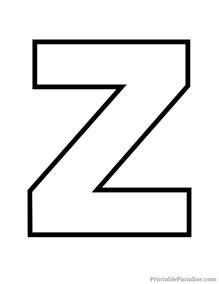 printable letter z outline print letter z