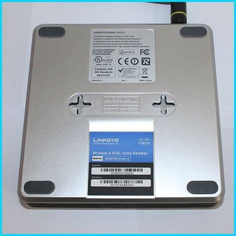Modem Adsl Linksys Wag200g linksys wag200g wireless g adsl gateway modem router ebay