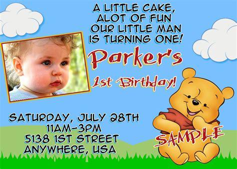 Winnie The Pooh Birthday Invitation Cards Items Similar To Winnie The Pooh Birthday Invitations