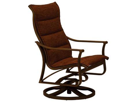 Tropitone Chairs by Tropitone Corsica Padded Sling Aluminum Swivel