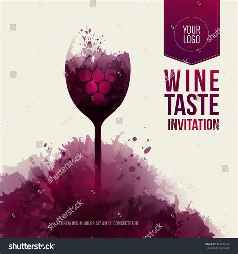 Invitation Template Event Party Suitable Tasting Stock Vector 323595254 Shutterstock Wine Tasting Invitation Template Free