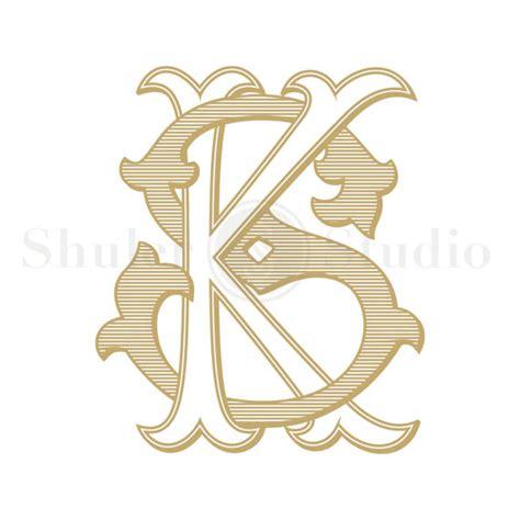 sk tattoo design antique monogram design ks sk antique monogram