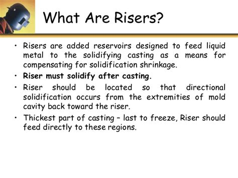 pattern and casting difference u3 p2 riser design