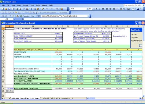 Excel Net Present Value Template Skillzmatic Com Financial Calculator Excel Template