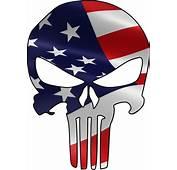 Punisher Skull Decal American Flag Color 10 Car