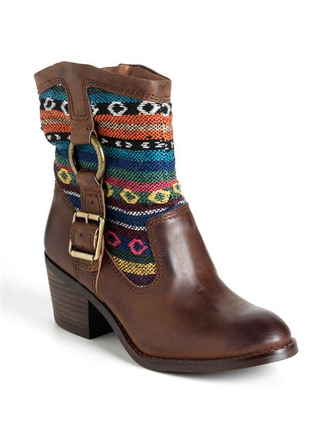 lucky brand ankle boots in brown brown leather lyst
