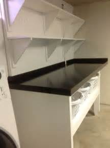 Laundry Folding Table With Storage Laundry Folding Table And Shelving Laundry Room