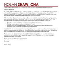Best Nursing Aide And Assistant Cover Letter Examples