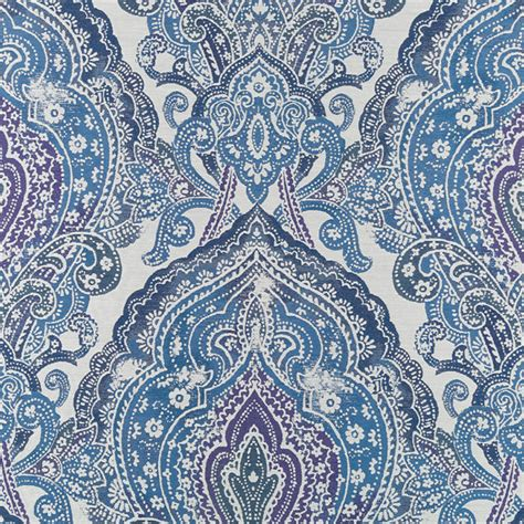 Blue Damask Upholstery Fabric by Peacock Blue Damask Upholstery Fabric Large Scale Damask