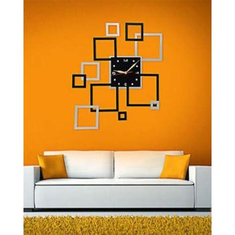 diy 3d home design buy 3d home diy mirror designer wall clock online in