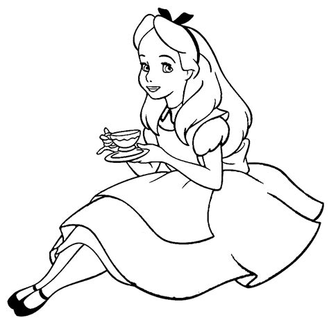 free alice in wonderland coloring pages coloring home