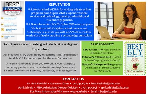 Wku Mba by Mba Option Western Kentucky