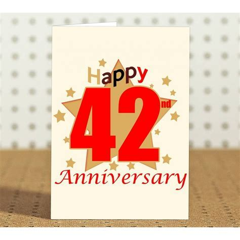 42nd Wedding Anniversary Gift for Parents, Father, Mother