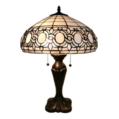 amora lighting tiffany l amora lighting 24 in tiffany style white l