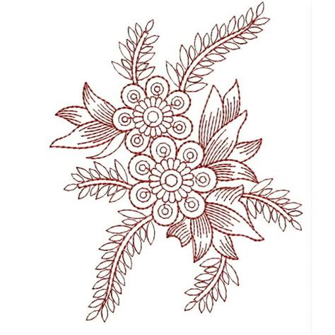 Embroidery Design Outline | redwork outline embroidery design