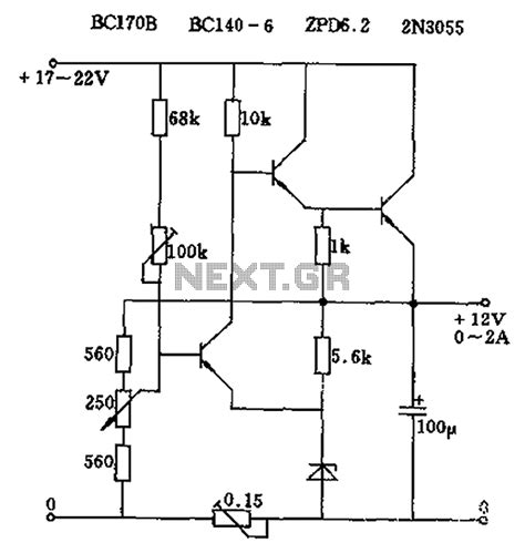 series test l circuit diagram gt power supplies gt adjustable output voltage of the series