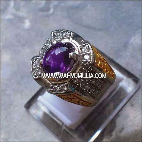 Batu Cincin Wulung Hitam jual batu kecubung ungu amethyst sold batu permata