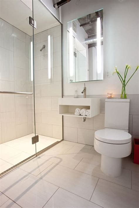 Modern Small Bathroom With Shower 18 Large White Bathroom Floor Tiles Ideas And Pictures
