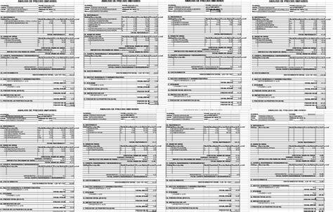 tabulador de precios unitarios 2016 neodata cipu precios unitarios 2016 tabulador general de precios