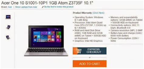 Keyboard Acer One 10 S100 acer one 10 s1001 tablet laptop hybrid specs price