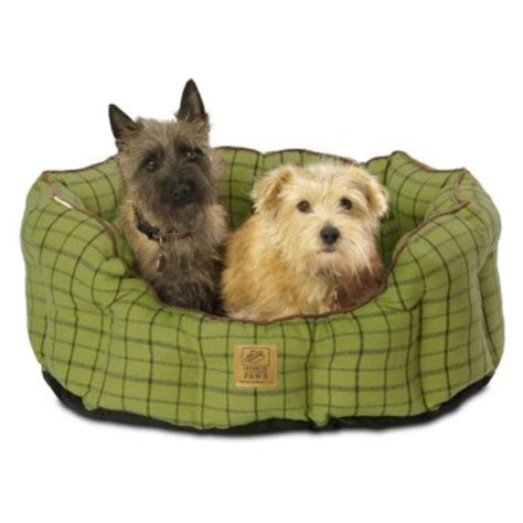 house of paws tweed dog bed house of paws green tweed oval snuggle dog bed from 163 20 00 waitrose pet
