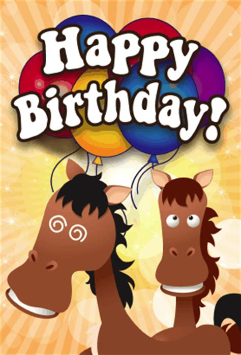 printable birthday cards with horses horses birthday card