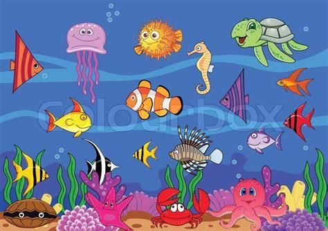 Little Mermaid Wall Stickers sea life stock vector colourbox