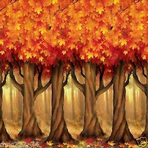 Fall Window Decorations Fall Thanksgiving Party Decoration Mural Autumn Trees