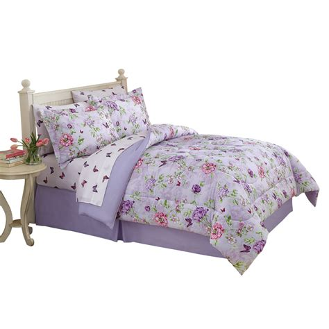 butterfly comforter set collections etc floral butterfly garden comforter set ebay