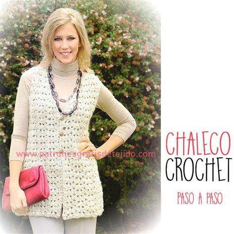 Chaleco Crochet Para Mujer Abierto Con Botones Paso A Paso   chaleco crochet para mujer abierto con botones paso a