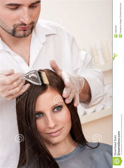 Professional Hair Dresser by Professional Hairdresser Color Customer At Salon Royalty