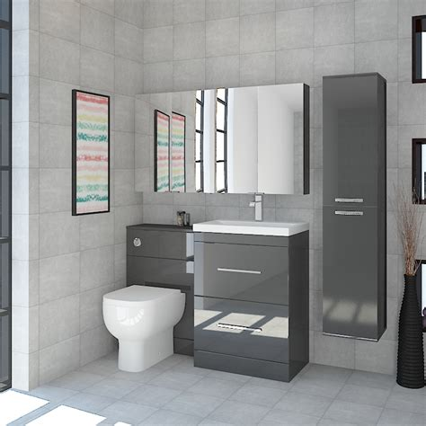 Bathroom Furniture Suites Patello Bathroom Furniture Suite With 2 Mirror Cabinets Buy At Bathroom City