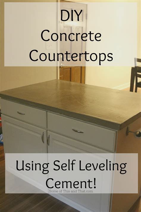 Level Concrete Countertops by Diy Concrete Countertops Using Self Leveling Cement