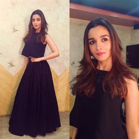 Dress Black Iffa alia bhatt looked stylish in manish malhotra s designer