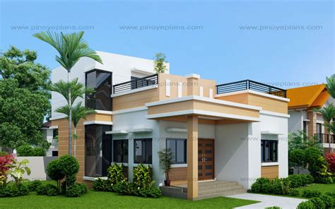 new house designs maryanne one storey with roof deck shd 2015025
