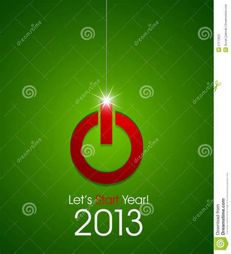 christmas ball power button stock image image 27173031